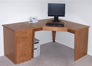 built in corner computer desk plans
